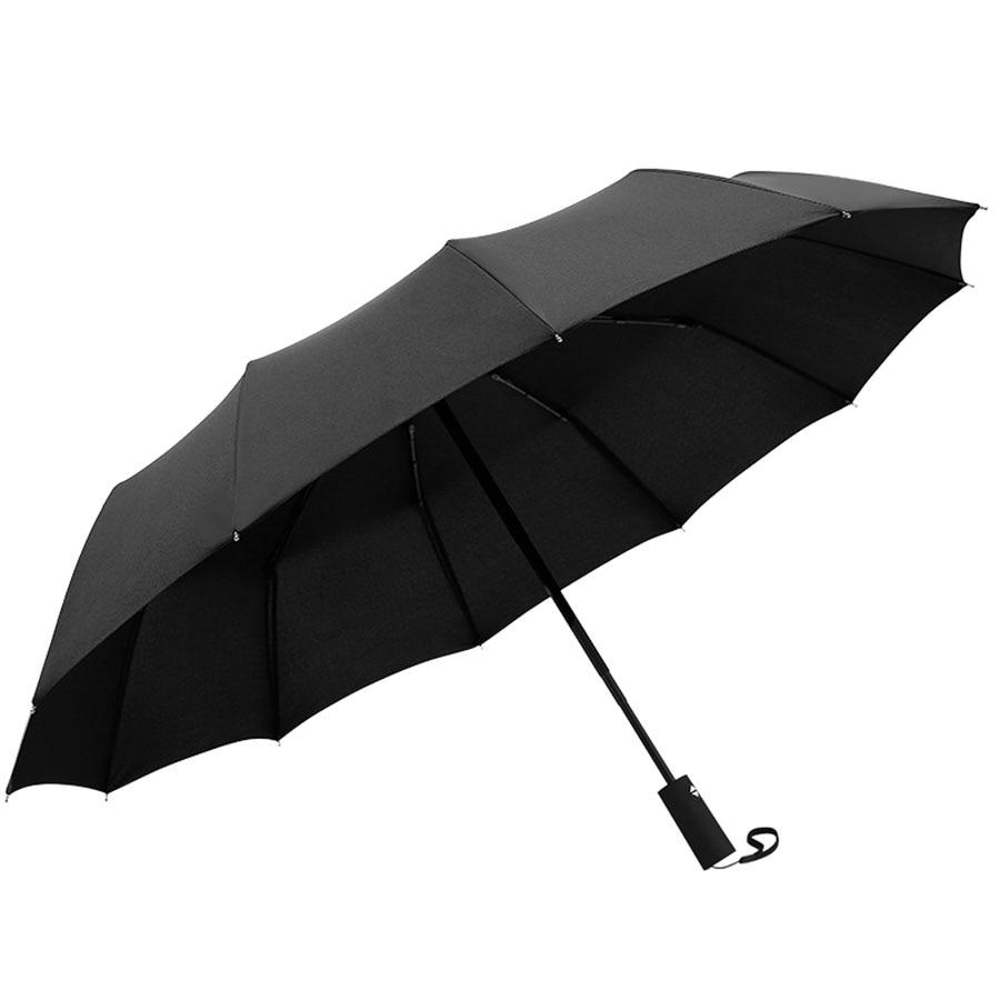 Parapluie de Golf noir hommes fort coupe-vent automatique Long parapluie grand homme et femmes parapluie haute qualité Logo personnalisé 50ys017