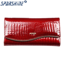 Genuine Leather High capacity Cowhide Purse Women Long Wallets Brand Designer Zipper Hasp Clutch Wallet Female Card Holder