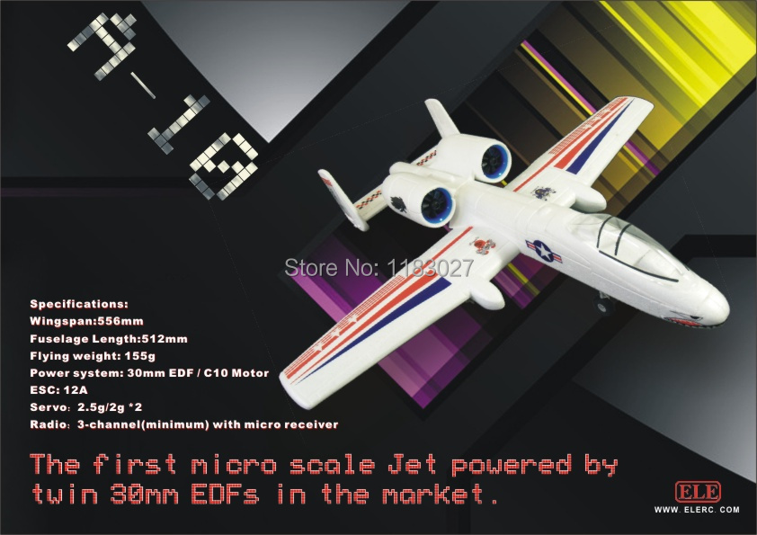 Free Shipping EPO Micro Airplane A10 Pusher Jet EPO plane A10 KIT (UNASSEMBLED )RC airplane RC MODEL HOBBY TOY HOT SELL RC PLANE купить недорого в Москве