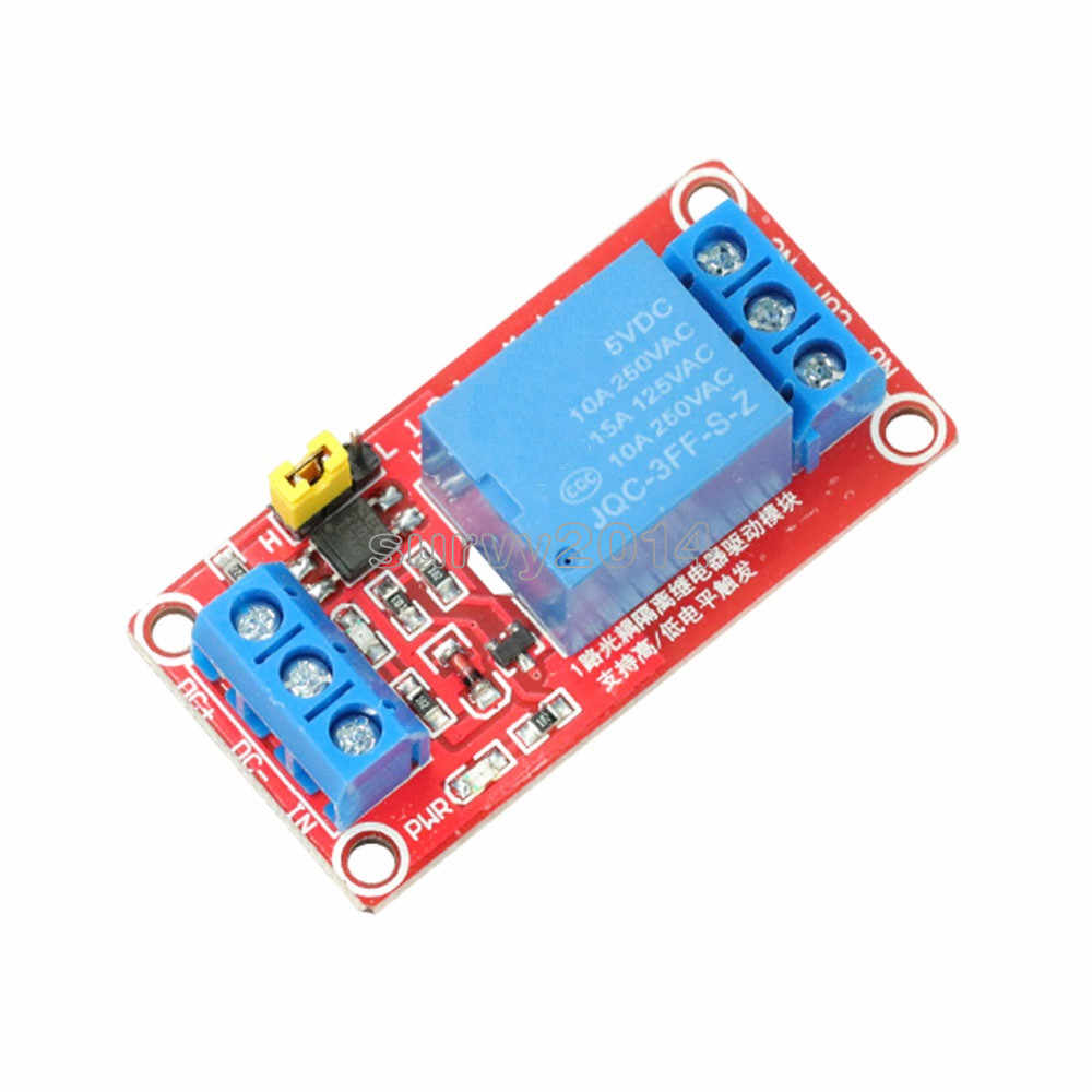 وحدة مرحل تيار مستمر 5 فولت 9 فولت 12 فولت 24 فولت 1 قناة مع لوحة درع Optocoupler وحدة إمدادات الطاقة الزناد عالية ومنخفضة المستوى لاردوينو