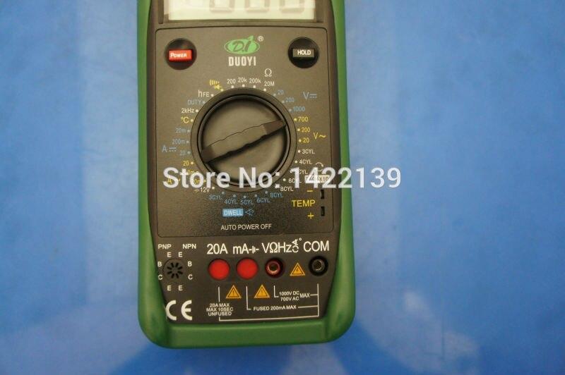 DUOYI DY2201B compteur automobile et testeur de batterie multimètre Instrument électrique - 3