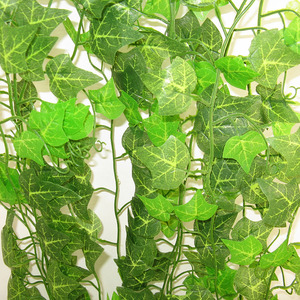 Image 3 - 12PCS 2.4M Artificial Ivy Leaf Garland Plants Vine Fake Foliage Flowers Home Decor Plastic Artificial Flower Rattan Evergreen
