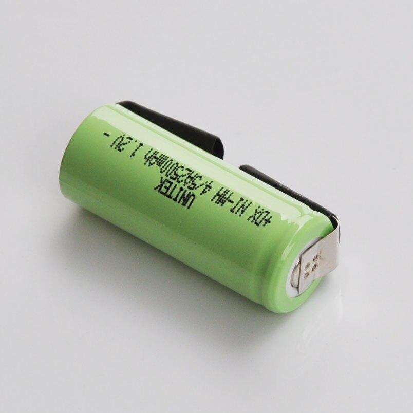 2-5 pièces 1.2 V batterie Rechargeable 4/5A 2500 mah 17430 4/5 A ni-mh nimh cellule avec onglets de soudage pour Braun oral-b brosse à dents électrique