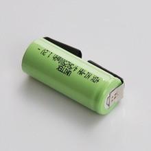 Pcs 1.2 v Recarregável 4 2-5/5A bateria 2500 mah 17430 4/5 UMA célula ni-mh nimh com guias de soldagem para Braun Oral-B escova de dentes elétrica