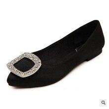 Женщины плоские туфли с горный хрусталь шелк с острым носом низкий топ slip-on personalizados homem дамы свадебные красные мокасины макс размер 34-42