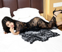 GOYHOZMI Sexy lingerie sexy costumes women hot intimates sexy underwear deep V long sex products pajamas nightdress sleepwear