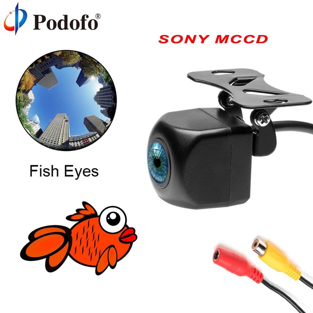 все цены на Podofo Rear View Camera SONY MCCD Fish Eyes Night Vision Waterproof IP68 Reversing Auto Backup Camera Parking Assistance Cameras онлайн