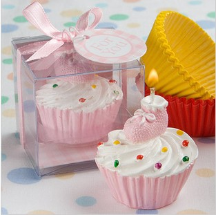 new cute best baby shower favors cupcake candle christening favors
