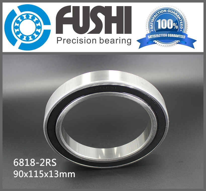 6818 2RS ABEC-1 (2PCS) 90x115x13MM Metric Thin Section Bearings 61818 RS 6818RS 2018 hot sale time limited steel rolamentos 6821 2rs abec 1 105x130x13mm metric thin section bearings 61821 rs 6821rs
