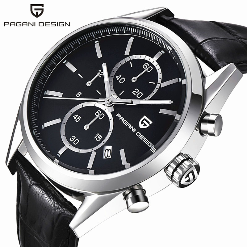 ФОТО Reloj Hombre 2016 Dive 30m Casual Quartz Watches Leather & Stainless Steel Men Top Brand Luxury Sport Watch Pagani Design 2513