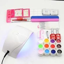 nail set 24W SUN UV led Lamp 12 Color Nail gel paint base gel top coat