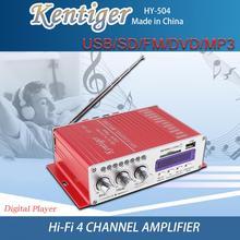 4CH HI-FI DC12V Car Audio High Power Amplifier FM Radio Player Support SD / USB
