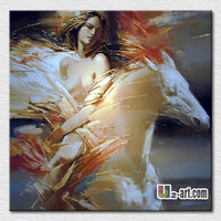Abstract Nude Woman Painting On Canvas Modern Hot Sell Canvas Oil Painting Beautiful Wall Pictures For