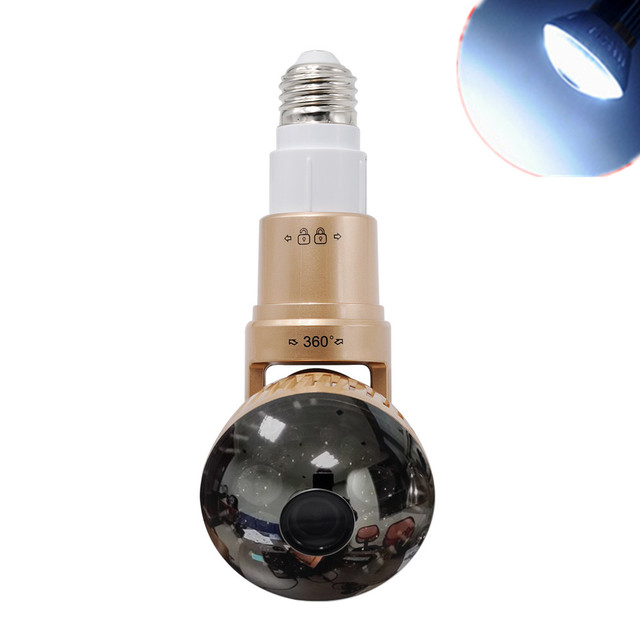 Wifi Light Bulb Security Camera with 32GB SD Storage