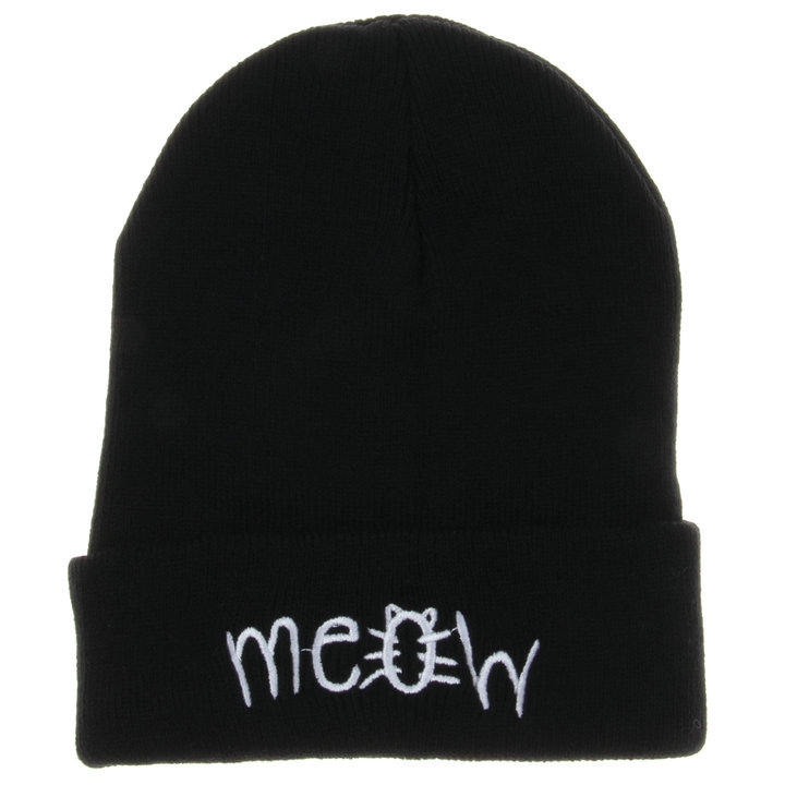 New Meow Winter Hats For Women Men Acrylic Unisex Adult Casual Skullies Men Women Beanies Hats Caps Knitted Gorros Toca men s skullies winter wool knitted hat outdoor warm casual solid caps for men caps hats