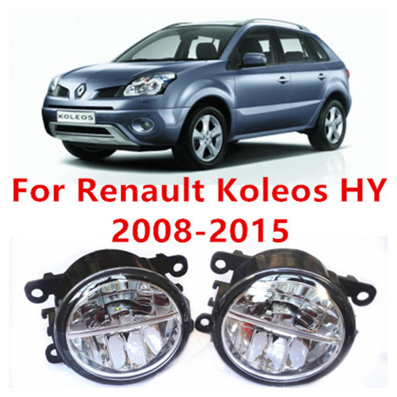 ФОТО For Renault Koleos HY Closed Off-Road Vehicle  2008-2015 Fog Lamps LED Car Styling 10W Yellow White 2016 new lights