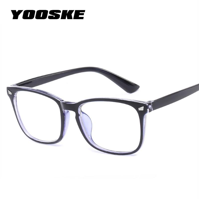 YOOSKE синие светящиеся очки для женщин негабаритный фильтр уменьшает синие световые очки для мужчин компьютерные очки унисекс