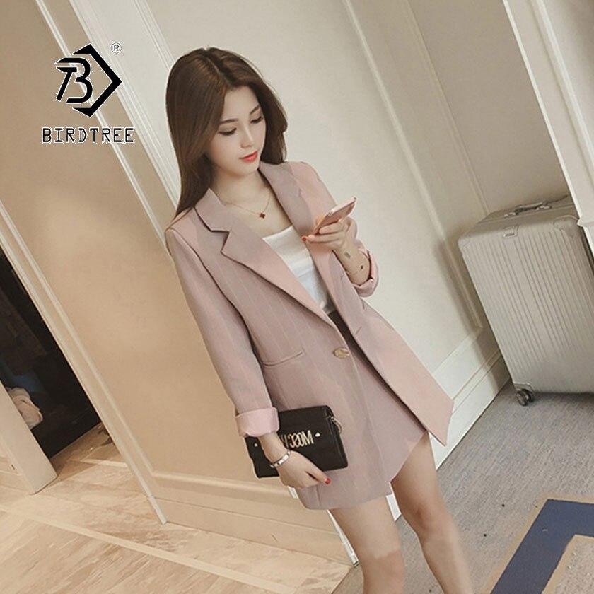 2019 Chic Autumn New Women's Shirt Short Pant Suit Korean Fashion Office Lady Formal Vertical Stripe Design Hot Sale S96617D
