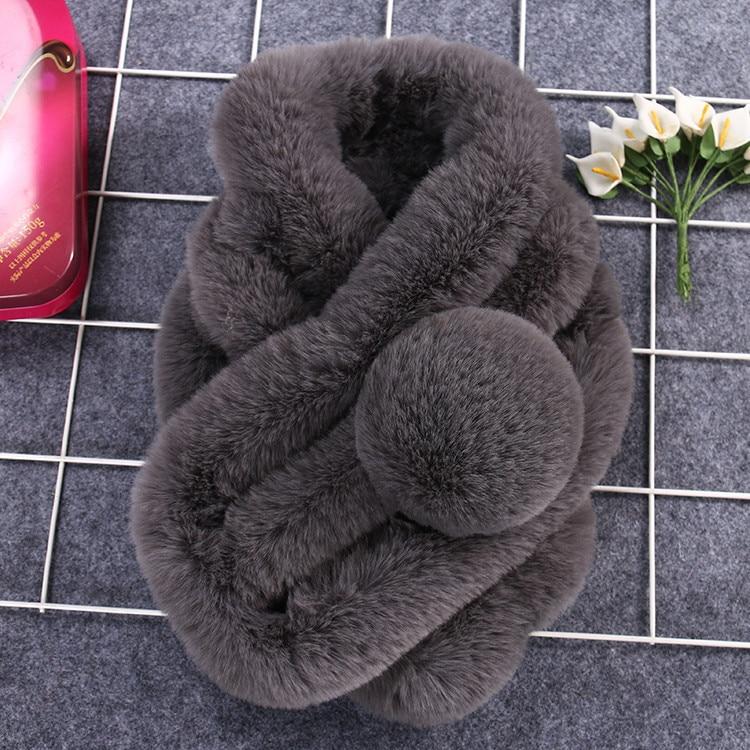 Women Winter Warm Scarf Fashion Thicken Fur Imitation Fur Grass Scarves