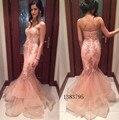 Vestido De Fiesta Elegante 2016 Sirena Vestidos de Noche Largo de Tul Vestidos Formales Para La Fiesta de Boda Comunión Más Tamaño