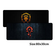 800*300 milímetros grande gaming mousepad mat para World of Warcraft mouse pad WOW jogo Dragão gamer mouse pad pc de mesa pad(China)