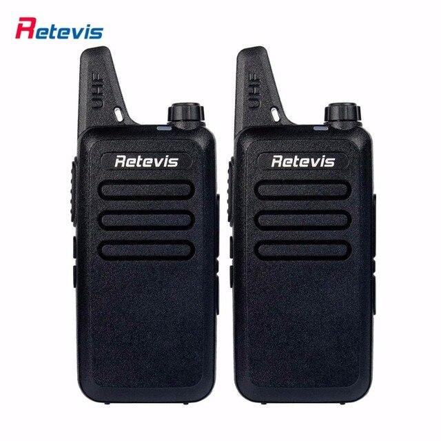 2 шт. Мини Walkie Talkie Retevis RT22 2 Вт UHF 400-480 МГц VOX сканирования CTCSS/DCS Пыле Радиолюбителей Кв Трансивер Handy 2 Способ радио