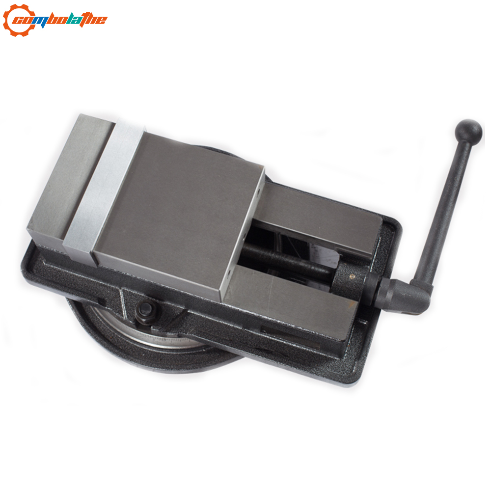 high precision bench machine vise milling vice QM16100 4 100mm with swivel base table for milling