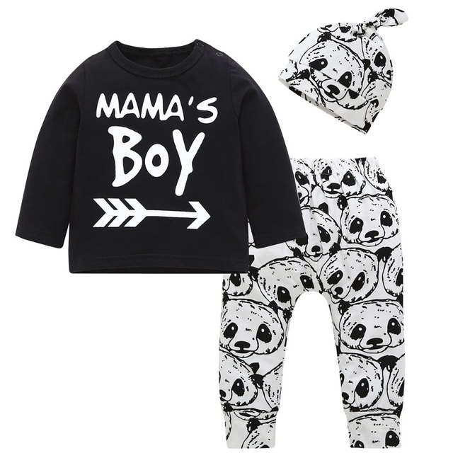 49503fe63e508 Newborn Baby Girls Clothes Sets Long Sleeve T shirt Pants hat 3pcs Outfits  baby boy Clothing Set Infant Toddler suits