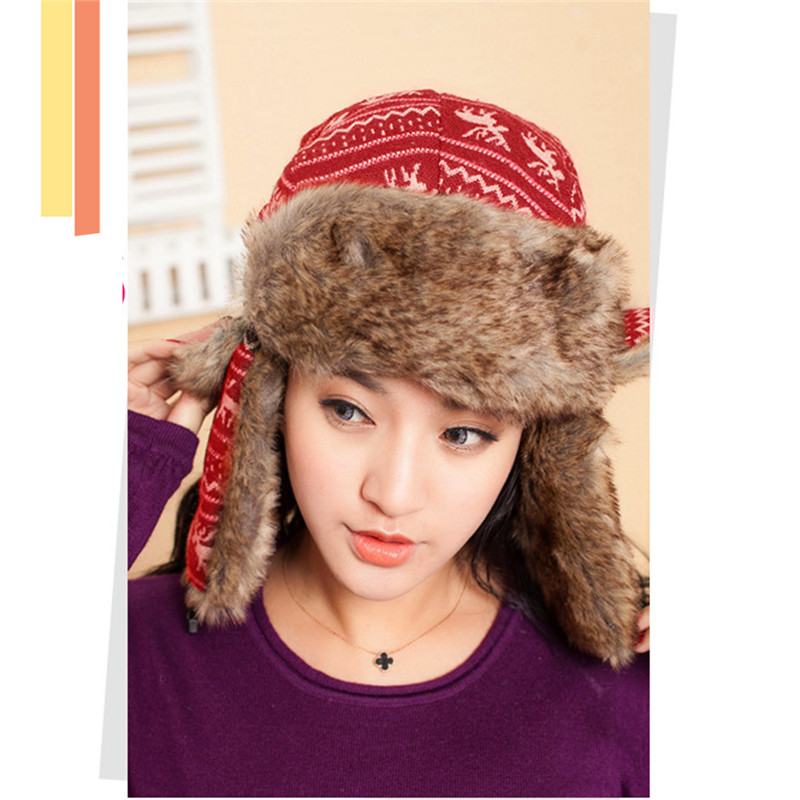 Faux Fur Ear Flaps Bomber Hats For Women Russian Style 2018 Winter Mens  Snow Caps Gorras Thick Warm Fleece Ushanka Trapper Hat 93a8f8659af