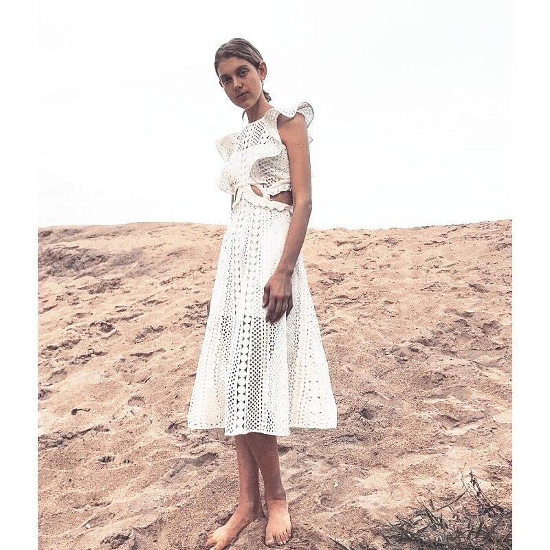 2019 New arrive white lace women dress