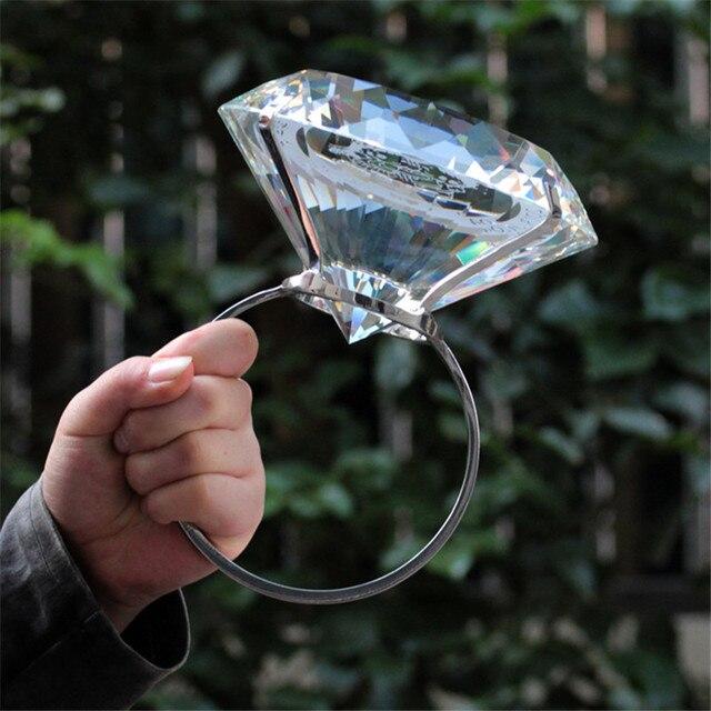 Kreative Transparent Großen Kristall Diamant Hochzeit Ornament Prop Zu Geben Freundin Geburtstag Valentinstag Geschenk Home Kunst Handwerk