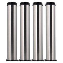 Серебро 300 мм Высота Нержавеющаясталь Регулируемый Кухня Мебель для ванной комнаты Кабинет Полки ножки футы набор из 4