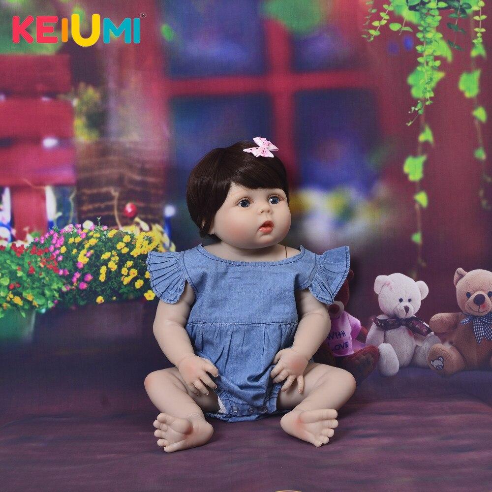 Moda 23 Cal Reborn lalki dla dzieci dziewczyna całego ciała silikonu winylu realistyczne 57 cm księżniczka lalki dla dzieci towarzysze zabaw dla dzieci zabawki prezentowe w Lalki od Zabawki i hobby na  Grupa 1