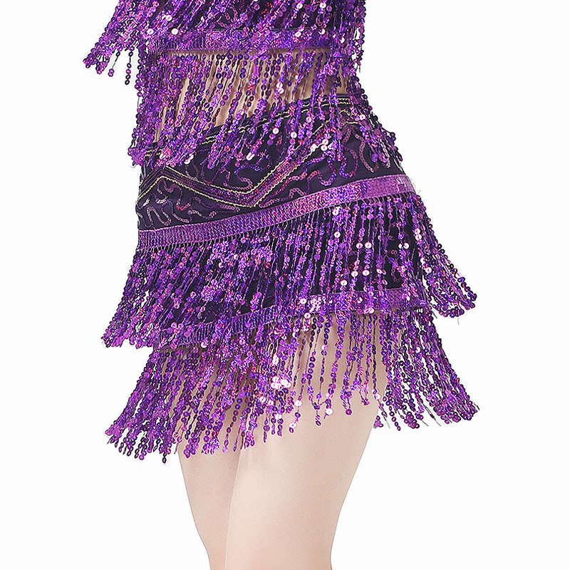 New Arrivals Women Dance Clothing Class Wear Accessories Wrap Sequins Base Belly Dance Belts Hip Scarf Shinny Long Fringes