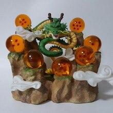 Dragon Ball Z Figurines Dragon Shenron Anime Dragon Ball Z de Collection Modèle Jouets DBZ Avec Montagne Boules de Cristal