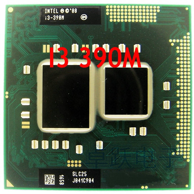 الأصلي إنتل كور المعالج I3 390 متر 3m كاش 2.66 جيجا هرتز دعم HM55 PM55 محمول دفتر معالج وحدة المعالجة المركزية