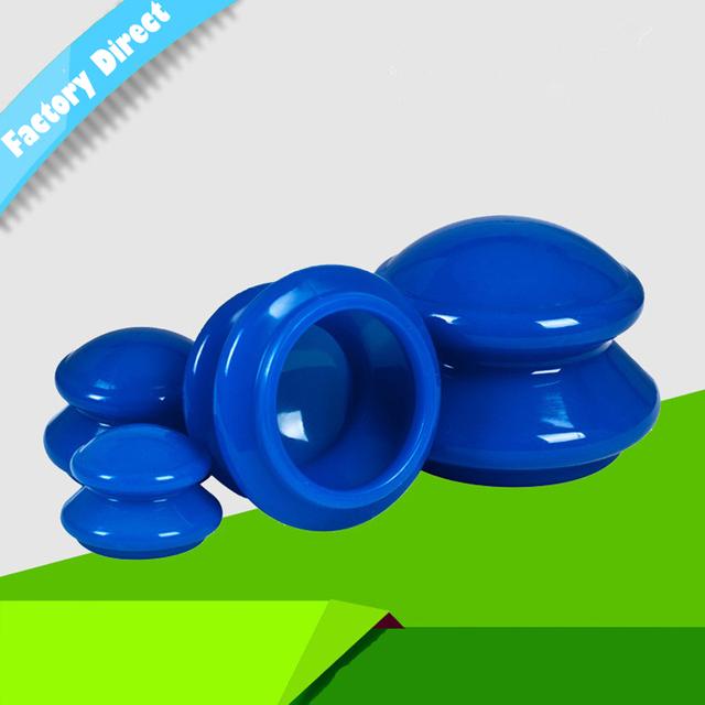 Chegada nova 4 PCS de Cuidados de Saúde de Silicone Copos de Vácuo Cupping Rosto Pescoço Relaxar de Corpo Inteiro de Volta Massagem Taças Cupping Massagem copo
