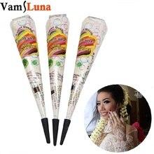 3pcs White henna Cones tatoo tube indian temporary tattoo For Bridal Decor body art