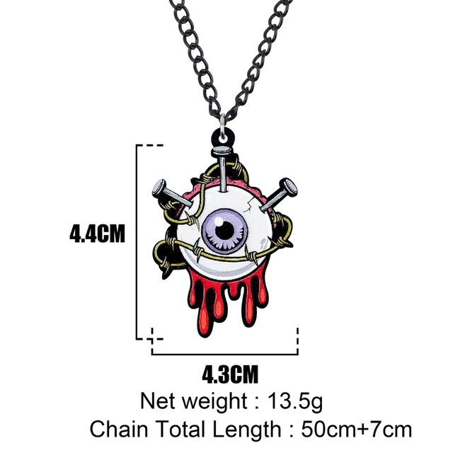 Horrible Eyeball Nail Necklace Pendant