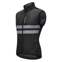 Sleeveless Cycling Wind Vest Reflective Windproof Shirts MTB Road Bike Bicycle Jersey Top Cycle Clothing Wind Coat Bike Vest