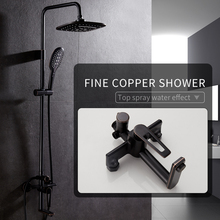 Bronze Black Bathroom Shower Faucet Mixer Wall Mount 8