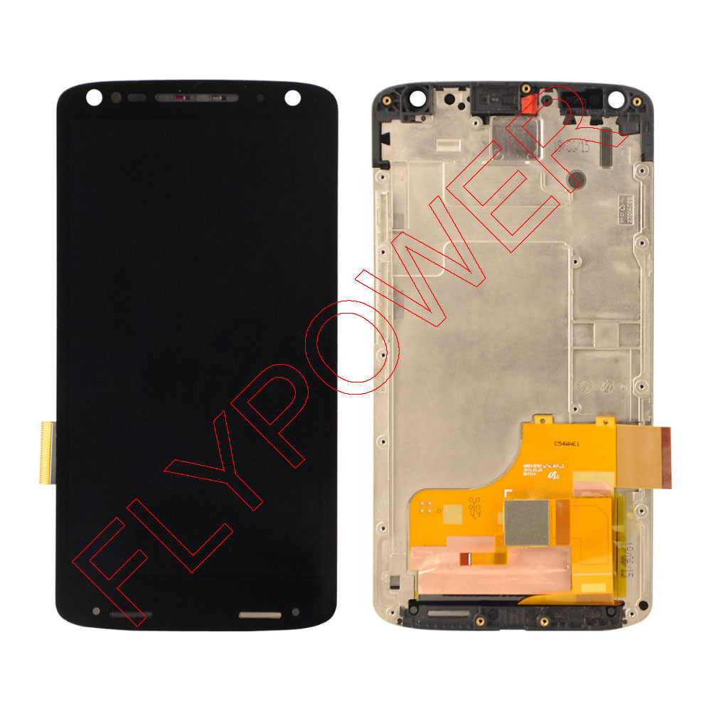 For Motorola Droid Turbo 2 XT1580 XT1581 LCD Display with Touch Screen and Digitizer and frame black free shipping