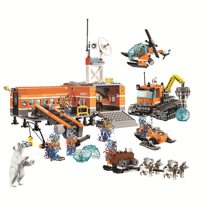 Bela <font><b>10442</b></font> City Arctic Base Camp Model building kits 3D blocks Educational toys hobbies for children gifts Compatible With <font><b>Lego</b></font> image