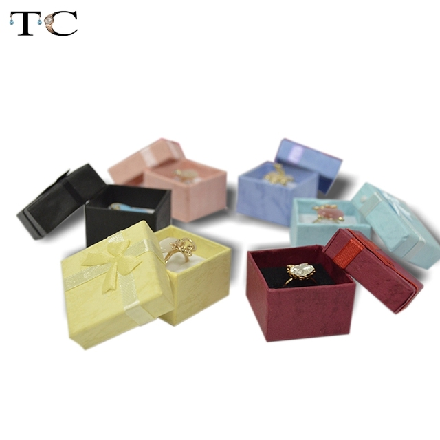 24pcs Assorted Jewelry Display Colors Ring Box Small Gift Boxes