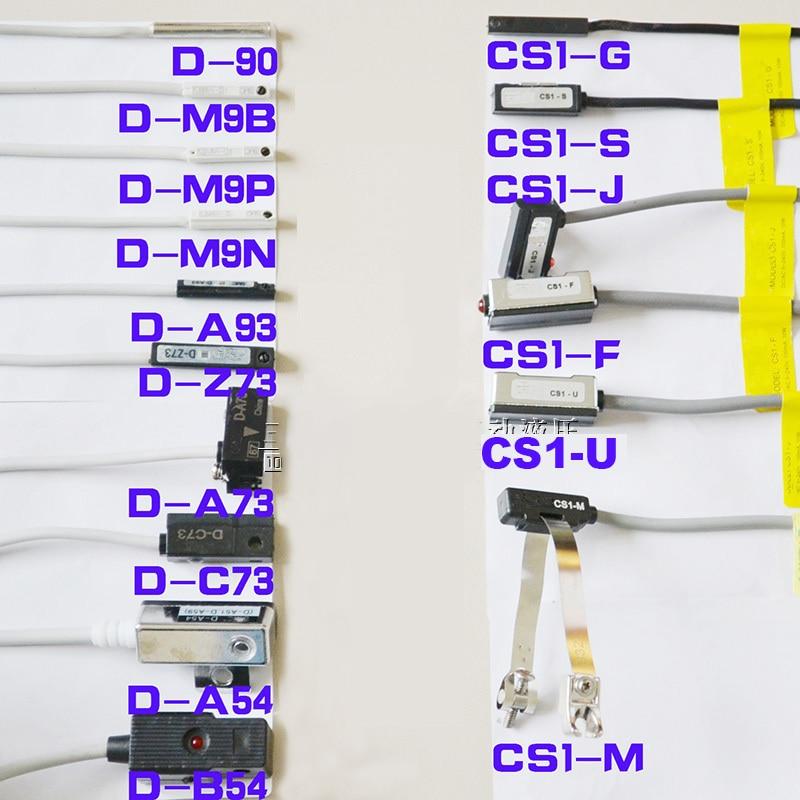 Free Shipping Led Reed Switch D-A93/A73/C73/Z73/90/B54/A54/M9B/M9N CS1-J/U/F/S/G/M Pneumatic Cylinder Magnetic Sensor Switch
