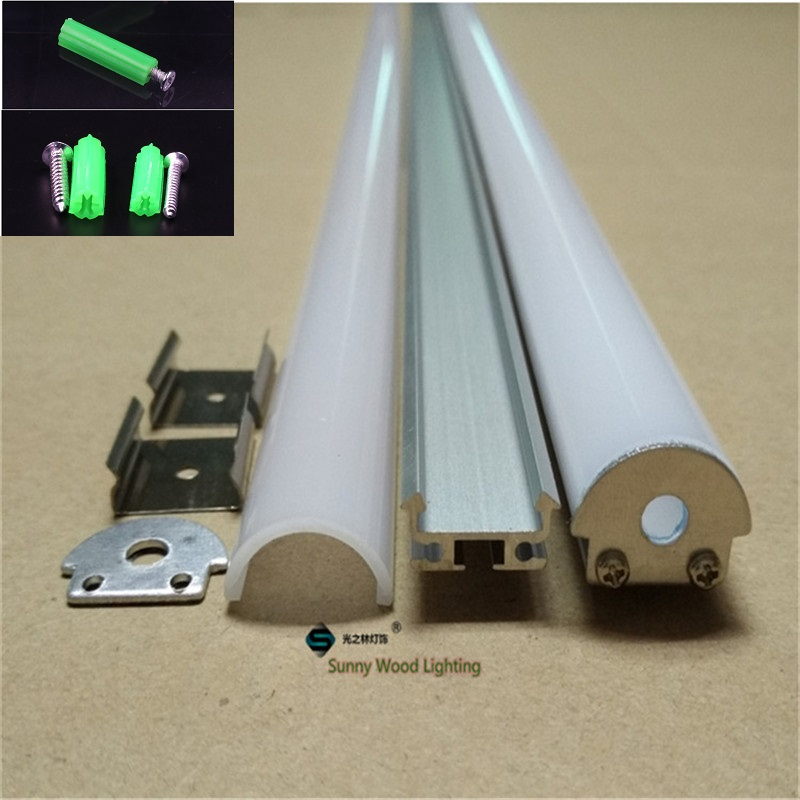 5-30pcs/lot 1m 40inch led aluminium profile for cabinet bar, 14mm 5V 12V 24V led strips housing with PC cover free shipping super wide u shape aluminum anodized profile for led strips with cover and end caps for dual row led strip