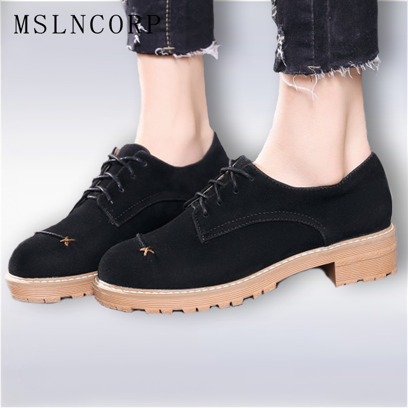 Plus Size 34-43 New Women Shoes Lace Up Woman Comfortable Casual Shoes Suede Ladies Low Heels Oxford Shoes Zapatos Mujer Flats plus size 34 43 new platform flat shoes woman spring summer sweet casual women flats bowtie ladies party wedding shoes