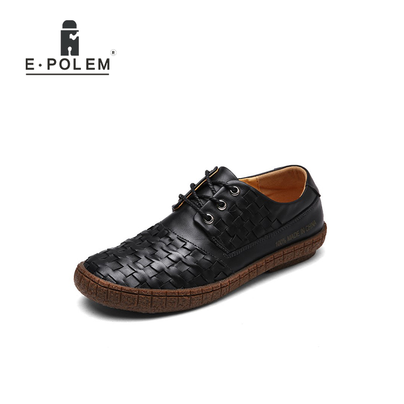 Autumn Winter New Style Retro Casual Genuine Leather Men Shoes Tide Fashion Men England Style Weave Cow Leather Shoes 2017 new autumn winter british retro men shoes zipper leather breathable sneaker fashion boots men casual shoes handmade