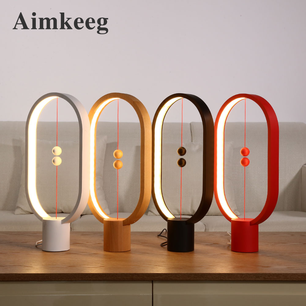 Aimkeeg Heng Balance Lamp USB Powered Decoration Bedroom Lights Warm White Eye-Care LED Night Light Novel Light Gift For Kids