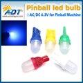 100 unidades #555 #44 #47 194 T10 501 lente esmerilado redondo superior pinball AC DC 6.3 V led